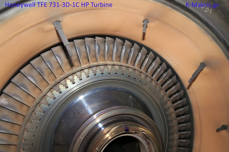 Honeywell TFE 731-3D-1C HP turbine and ITT sensors